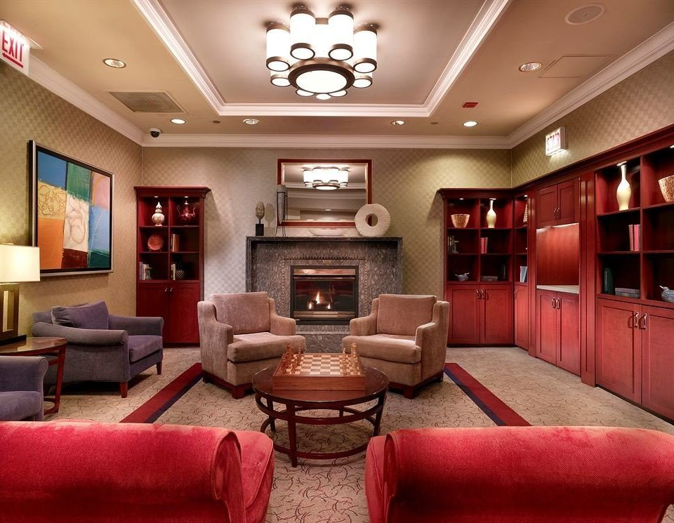sofa chair living room red Lobby recreation room Suite leather