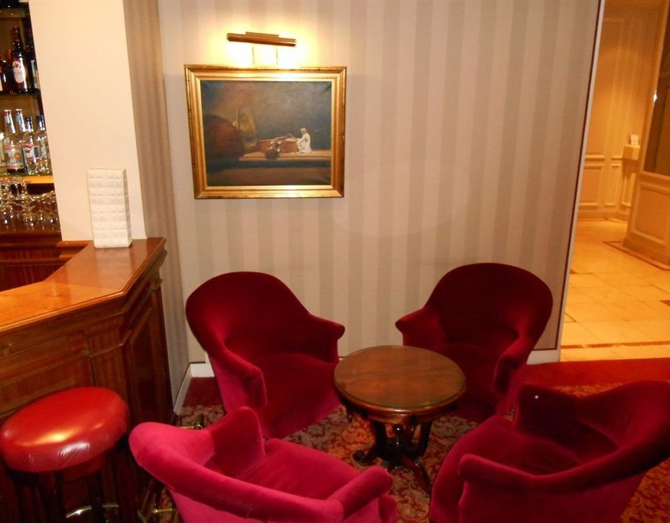 red chair Suite Lobby living room set