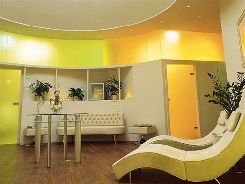 yellow property Lobby living room waiting room condominium Suite