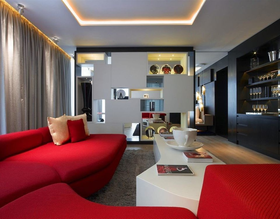 red property living room condominium Suite Lobby