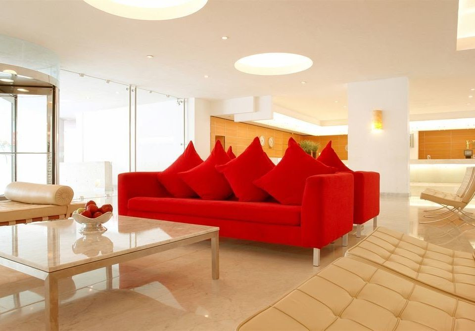 property living room red Suite Lobby condominium waiting room