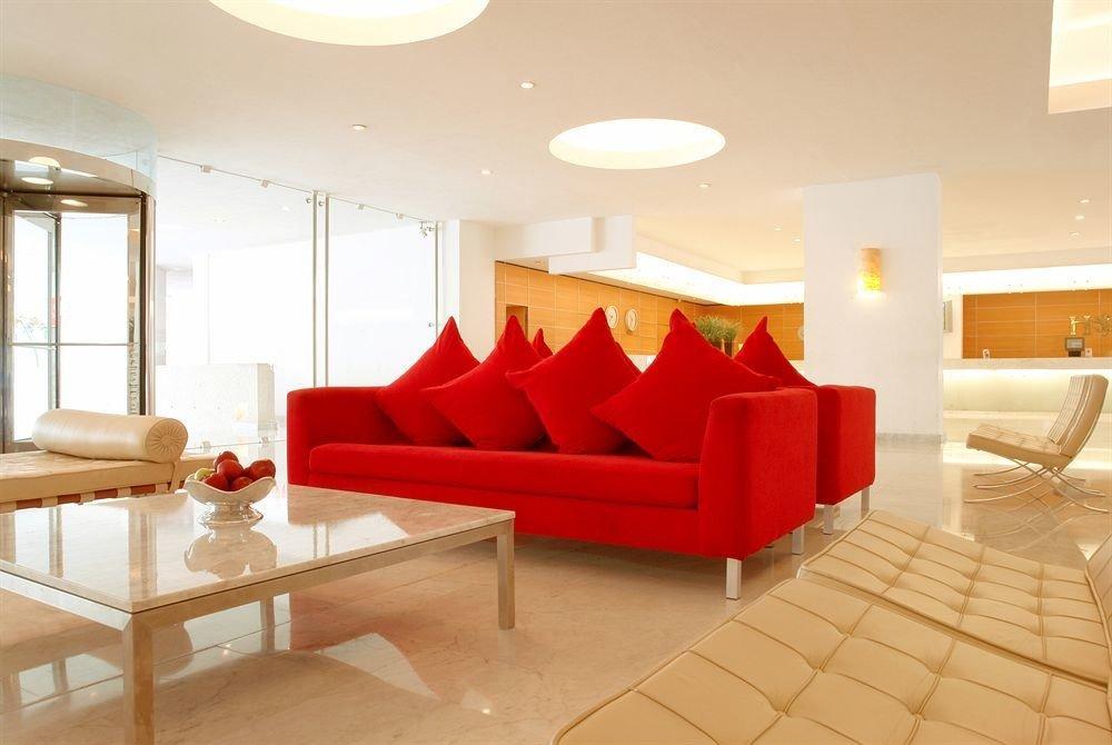 property living room red Suite Lobby condominium waiting room