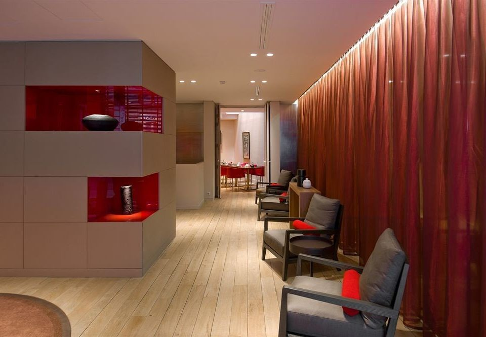 red property curtain Lobby living room Suite