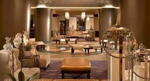 Lobby living room function hall restaurant Suite