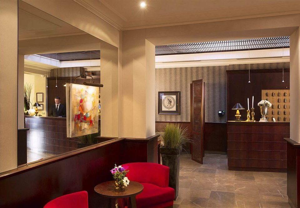 Lobby red lighting living room restaurant Suite