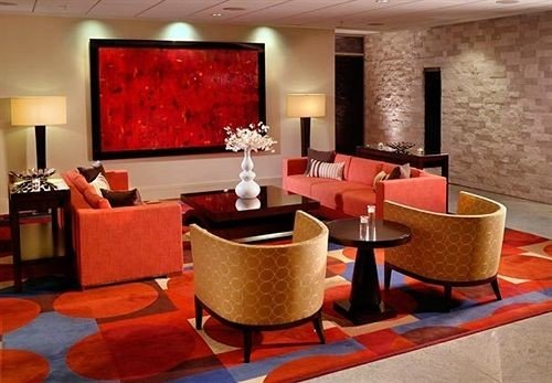 red Lobby orange Suite living room
