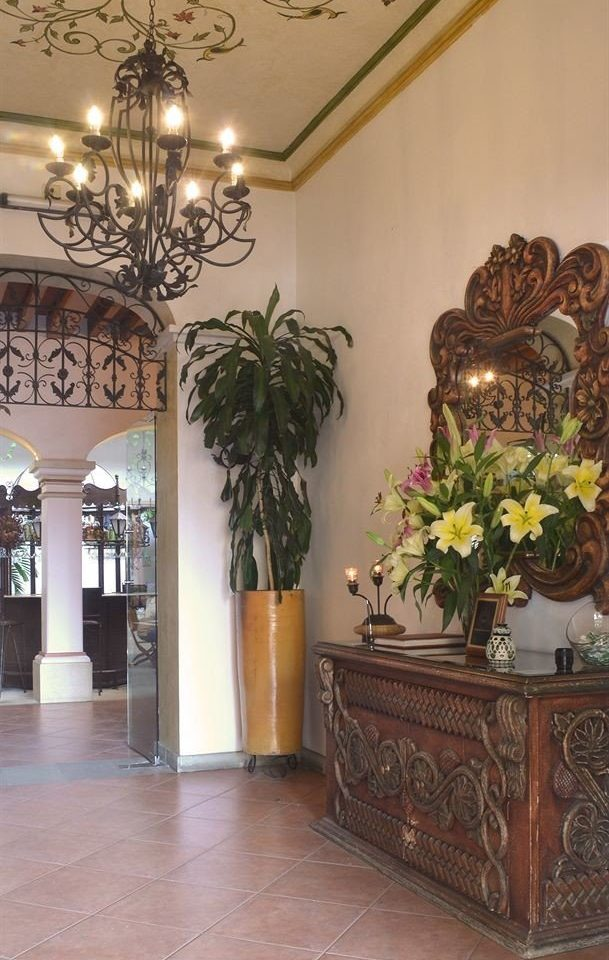 Lobby Tropical plant property floristry home flooring hall living room