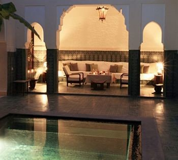 property building swimming pool lighting hacienda Villa Lobby mansion colonnade