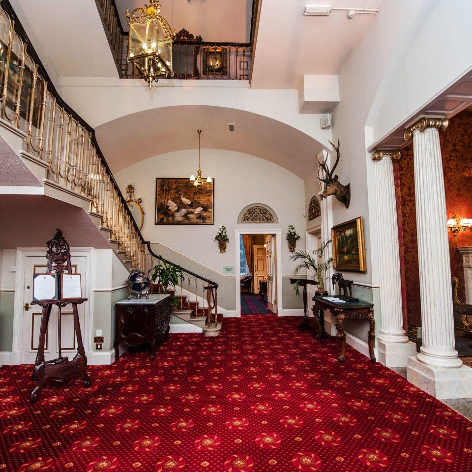 Lobby property red flooring mansion function hall Villa