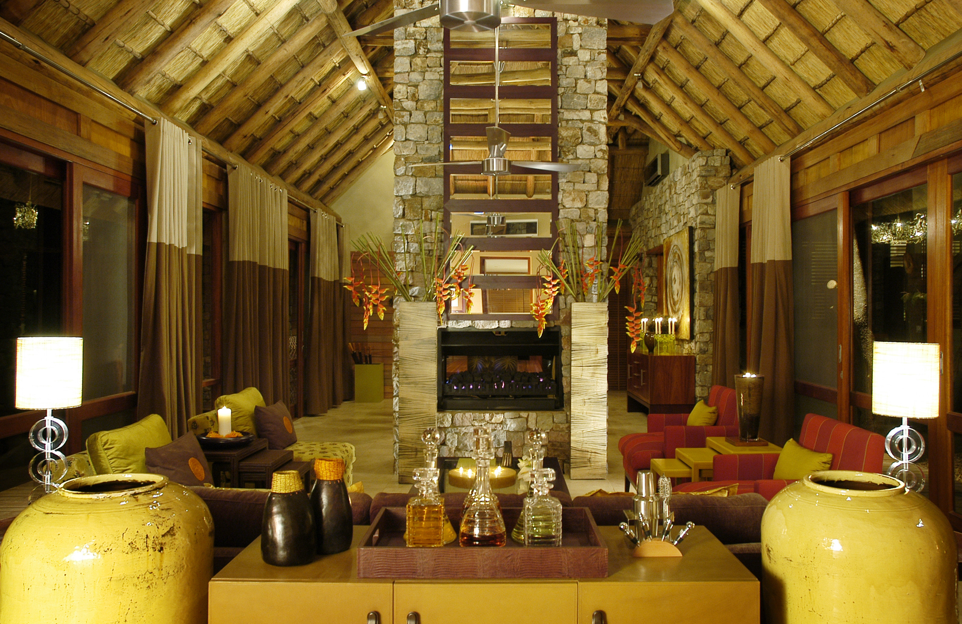 Lodge Lounge Rustic home living room restaurant