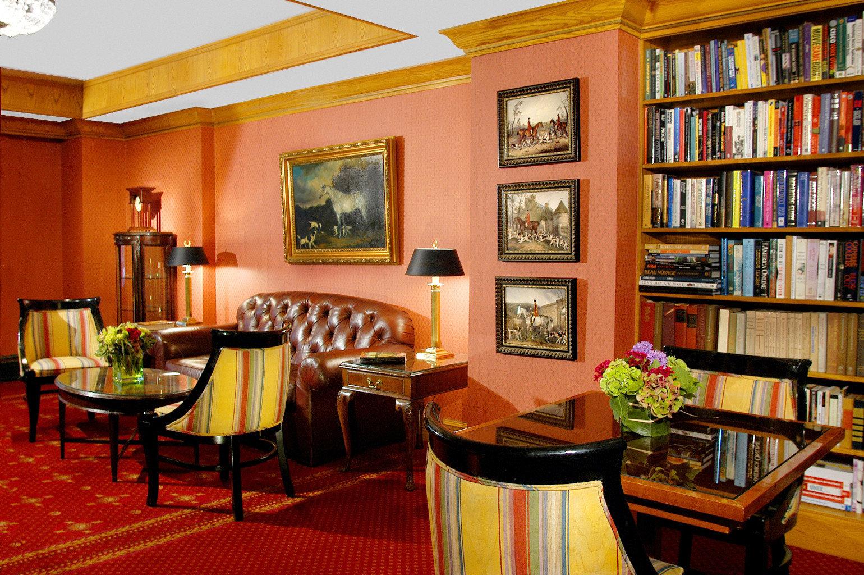 Lounge Luxury shelf building library living room