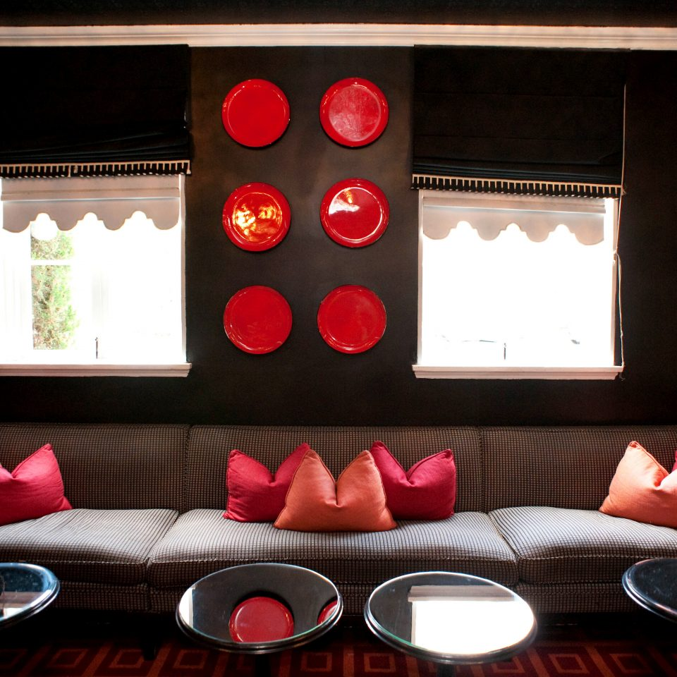 Lounge Luxury color red living room lighting restaurant