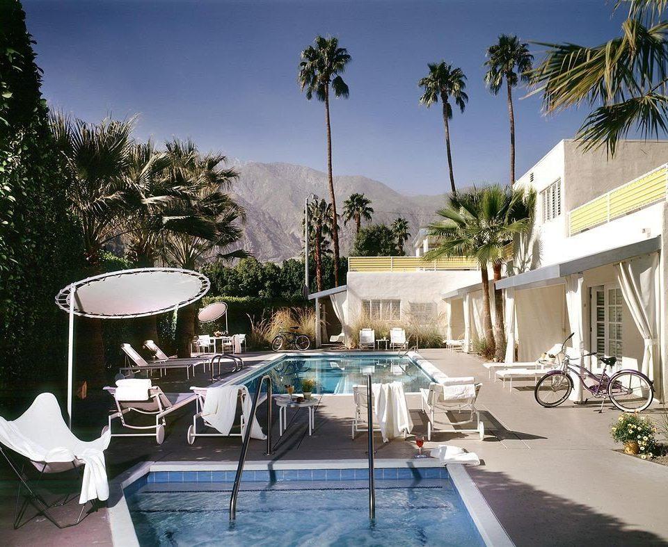 Lounge Luxury Modern Pool tree property swimming pool Villa Resort condominium home house backyard mansion