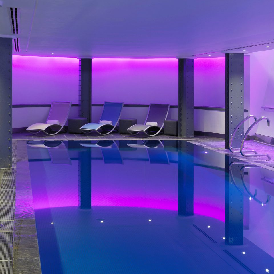 Lounge Luxury Modern Pool purple swimming pool lighting jacuzzi condominium colored