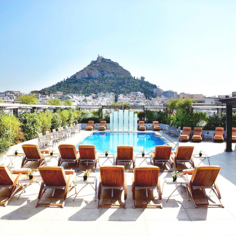 Lounge Luxury Modern Pool sky chair leisure property Resort restaurant Villa swimming pool