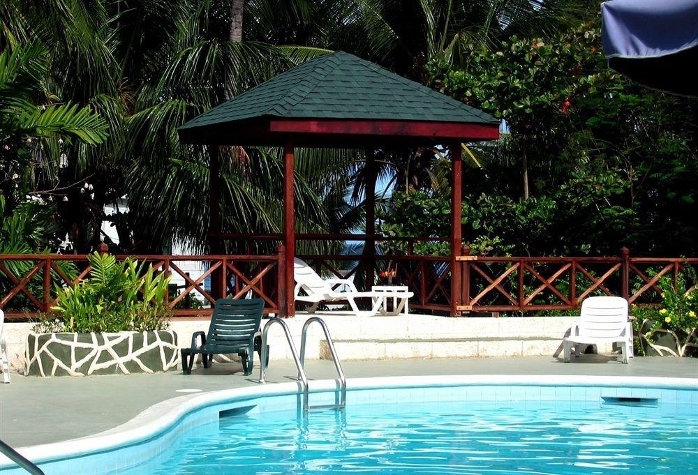 Lounge Luxury Modern Pool tree chair ground leisure swimming pool Resort backyard blue swimming shade