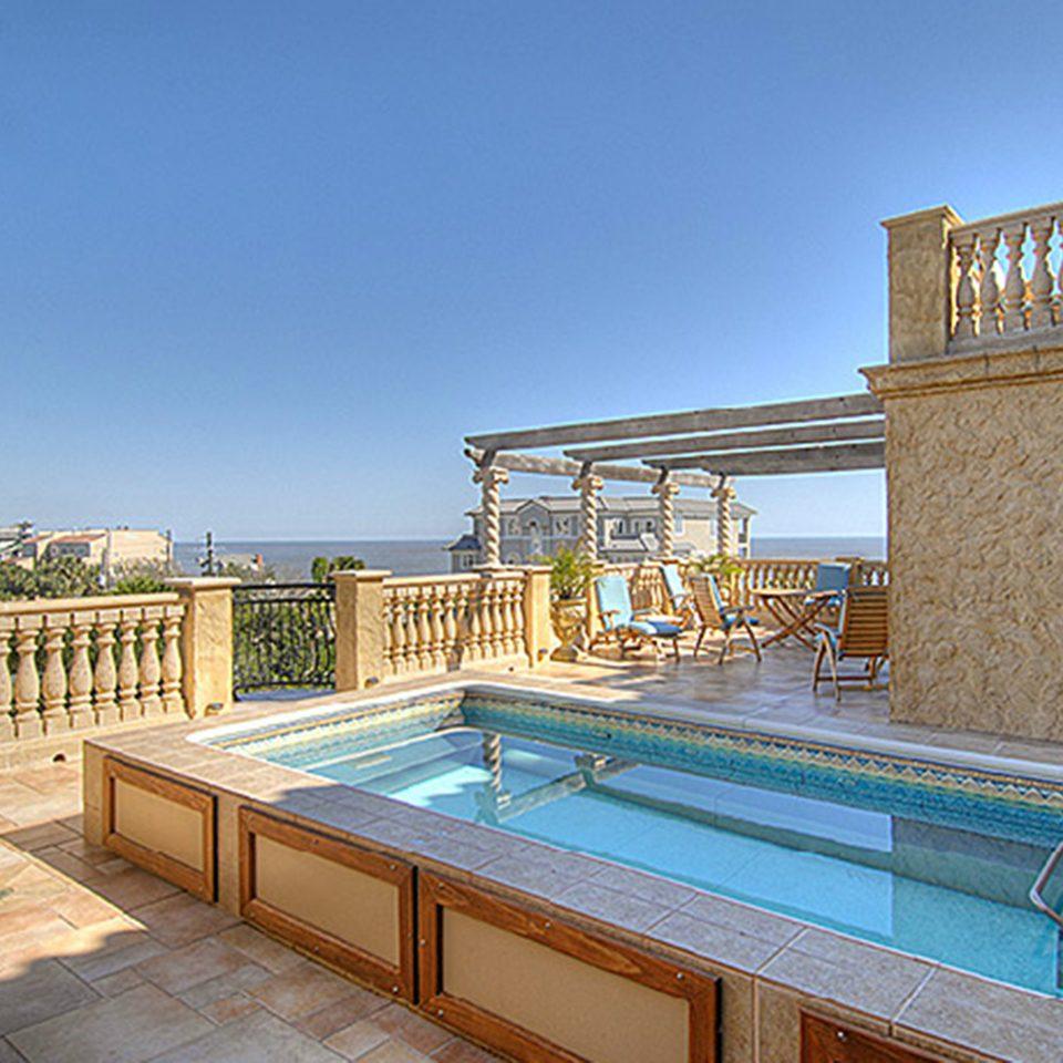 Lounge Luxury Modern Pool sky swimming pool property leisure Villa condominium Resort home mansion cottage stone
