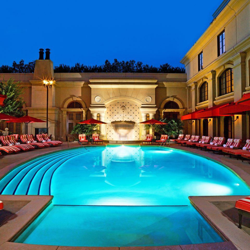 Lounge Luxury Modern Pool building leisure swimming pool Resort palace colorful