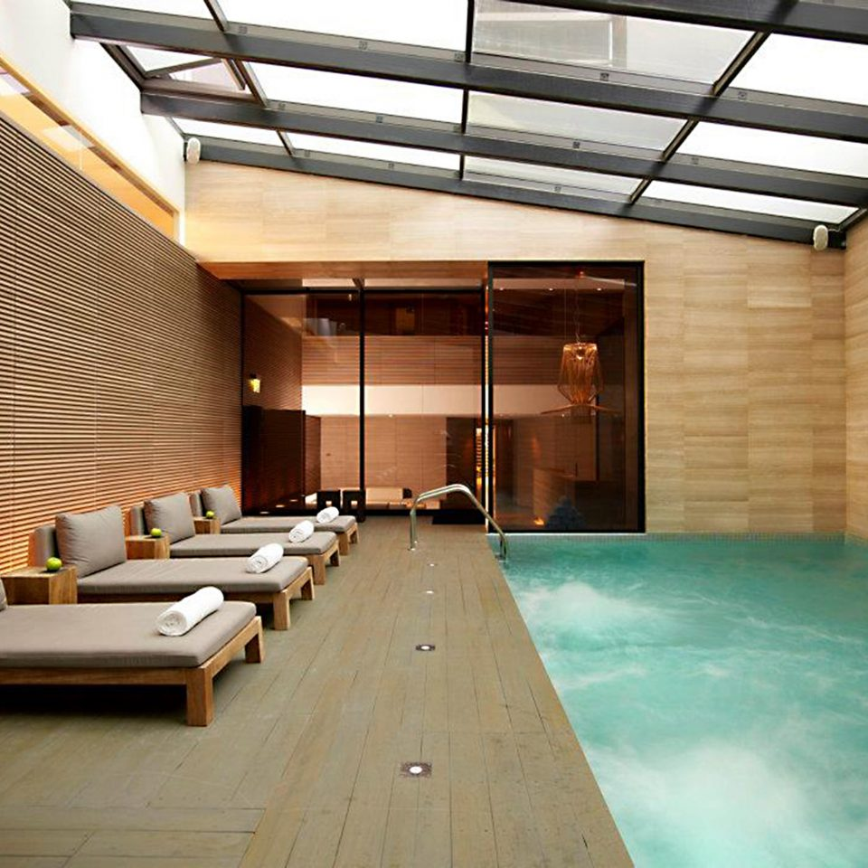 Lounge Luxury Modern Pool swimming pool property building home Villa living room recreation room flooring condominium