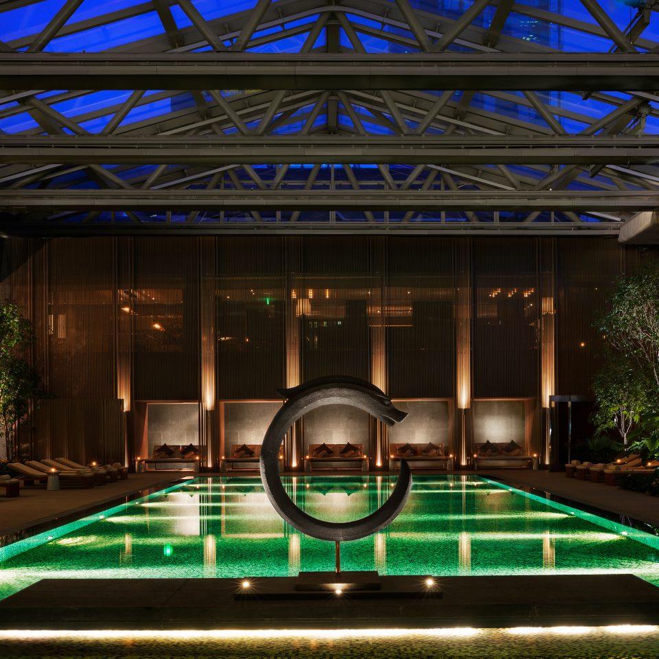 Lounge Luxury Modern Pool building leisure swimming pool billiard room Resort green recreation room convention center roof