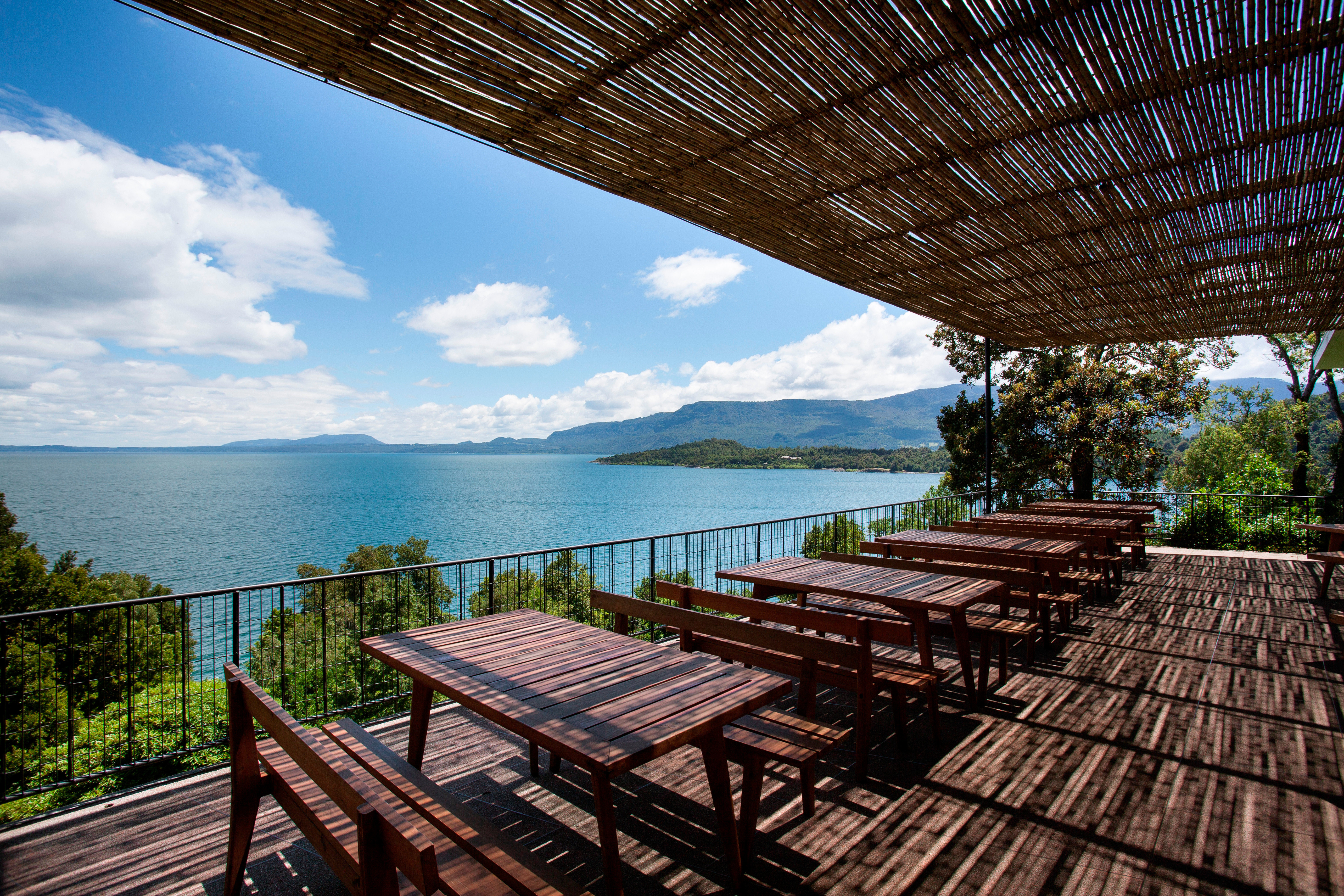 Lounge Luxury Nature Outdoors Resort Rooftop Scenic views bench sky wooden swimming pool park metal walkway