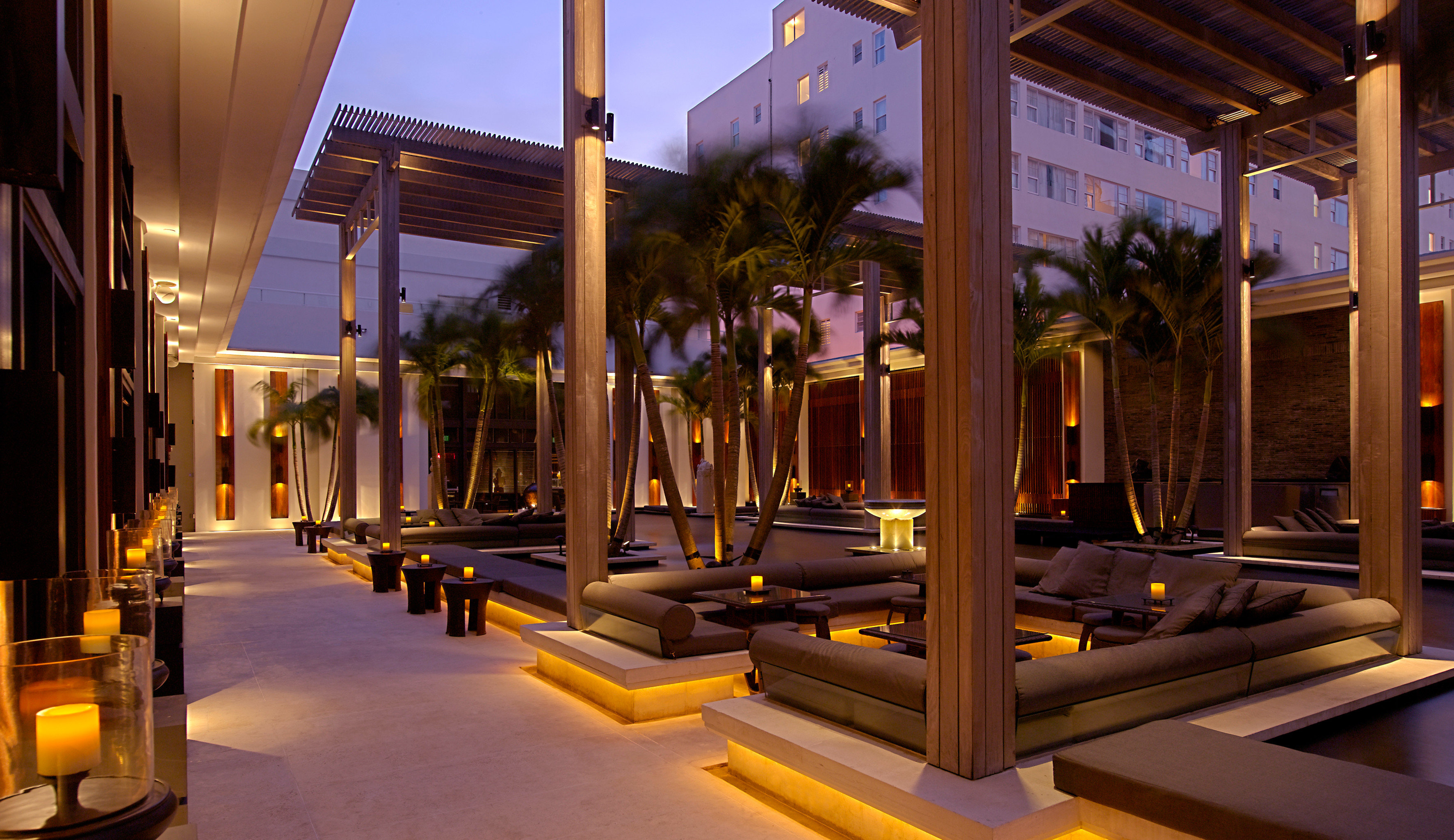Lounge Luxury Party structure building Resort light lighting restaurant night