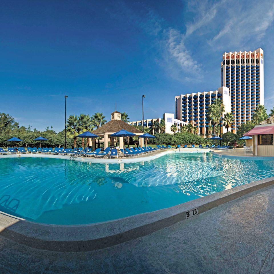 Lounge Luxury Pool sky ground swimming pool property leisure Resort condominium blue Villa