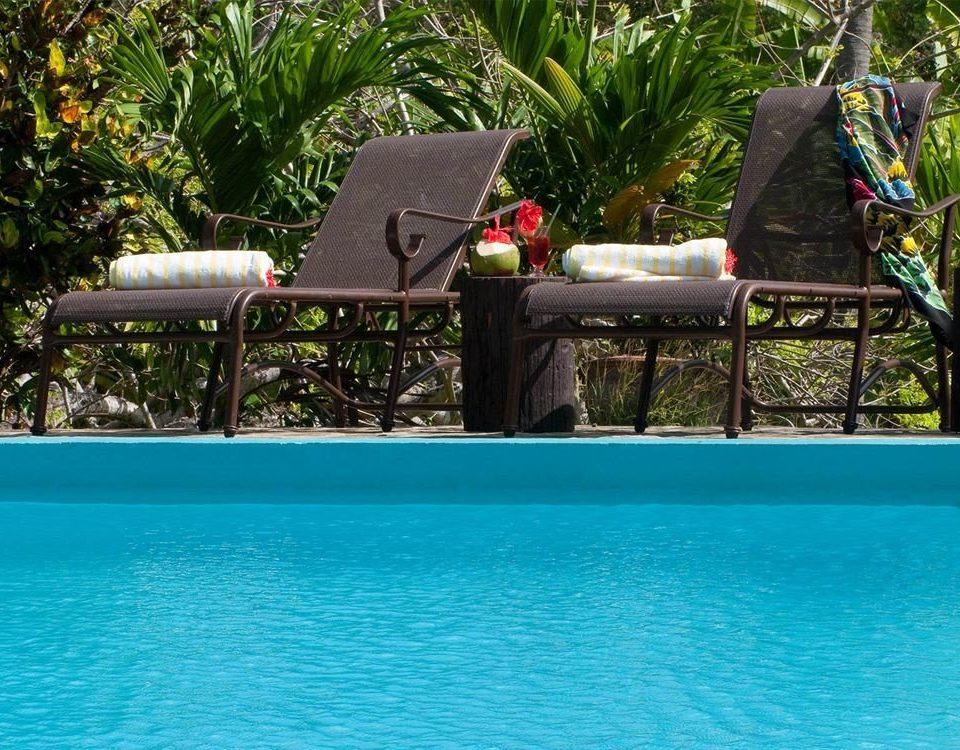 Lounge Luxury Pool Tropical tree water swimming pool leisure Resort backyard Villa