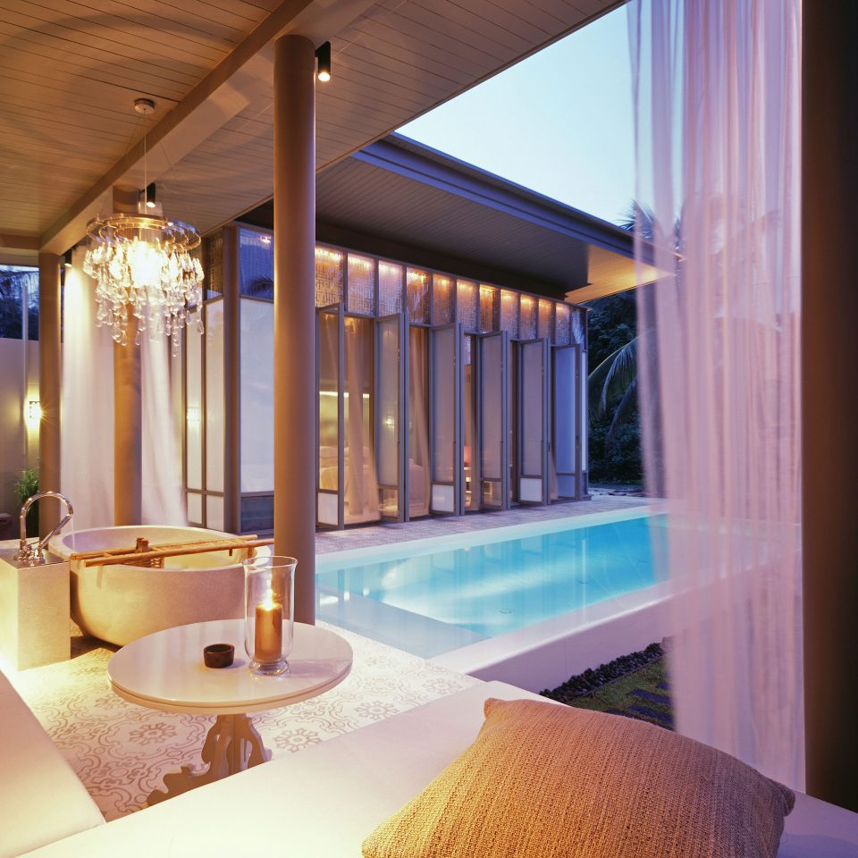 Lounge Luxury Pool Tropical property swimming pool Resort Suite lighting home Villa mansion condominium restaurant