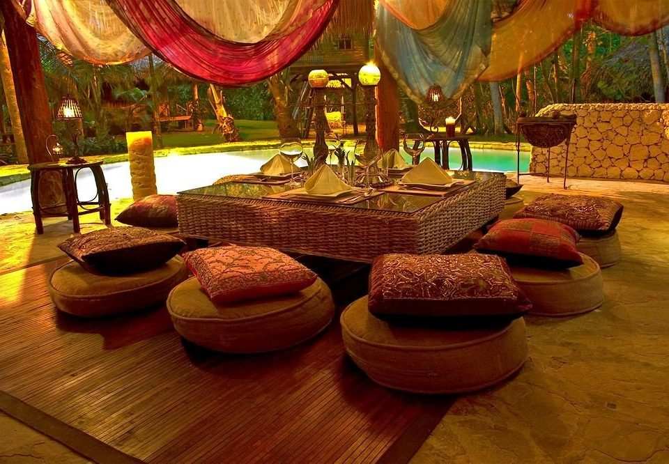 Lounge Luxury Romantic Tropical living room restaurant