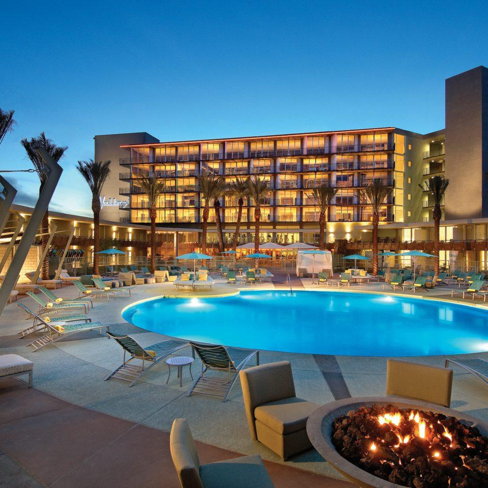 Lounge Pool Romantic sky swimming pool leisure chair property Resort condominium plaza blue Villa set