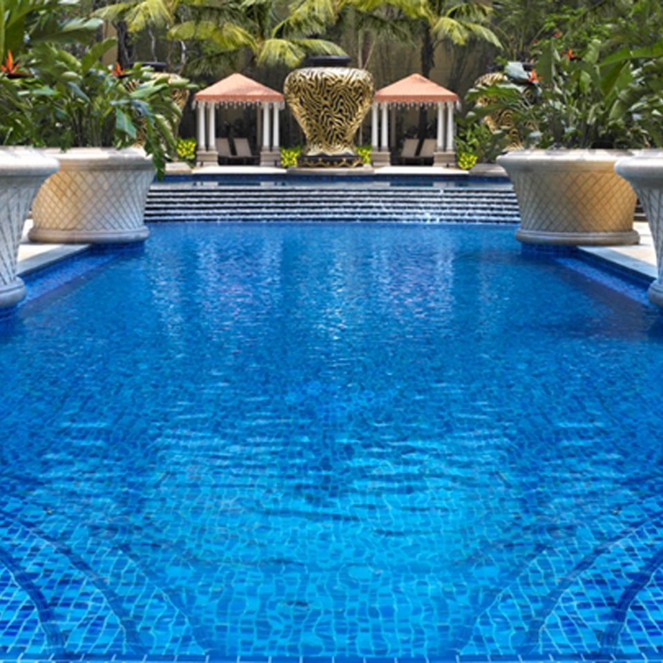 Lounge Pool swimming pool property backyard reflecting pool Villa blue