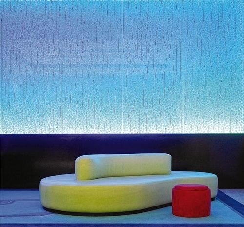 Lounge Resort color blue modern art lighting shape painting couch rectangle wallpaper seat sofa