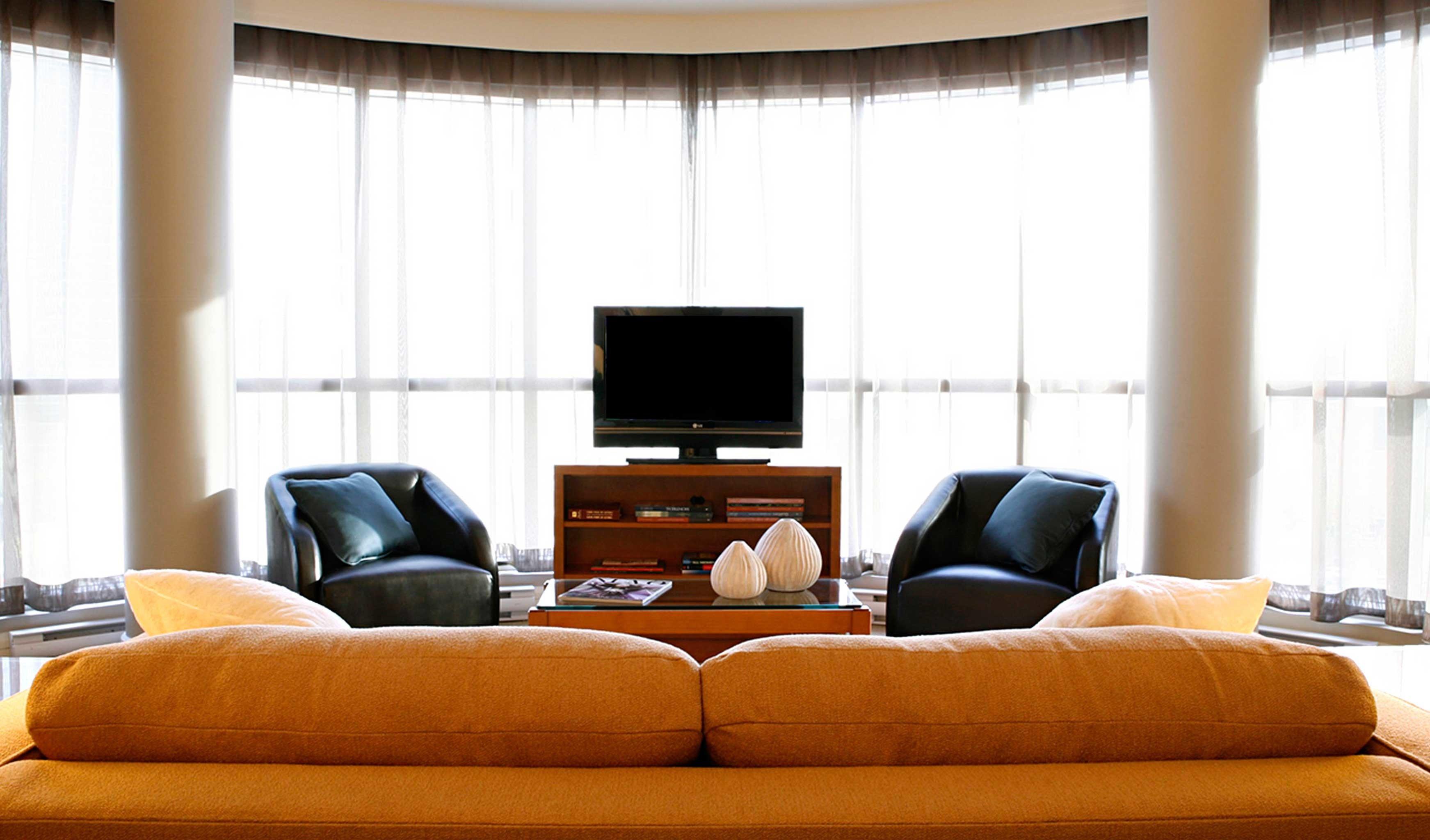 Lounge Scenic views sofa living room home textile window treatment