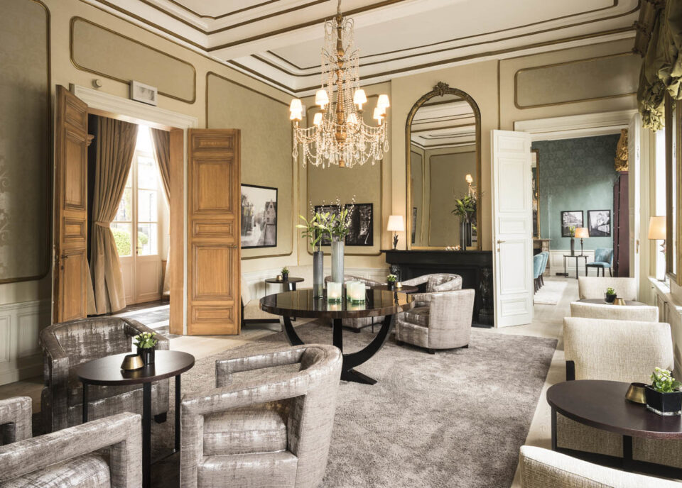 Lounge at Dukes' Palace in Bruges Belgium