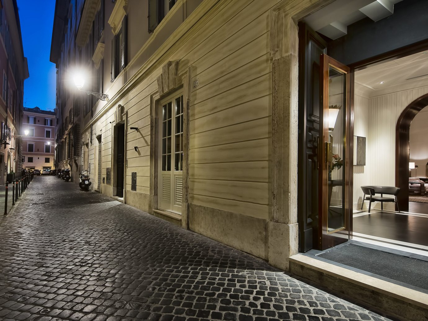 Boutique Hotels Hotels Italy Luxury Travel Romantic Hotels Rome way road street urban area Architecture sidewalk alley lighting estate interior design facade