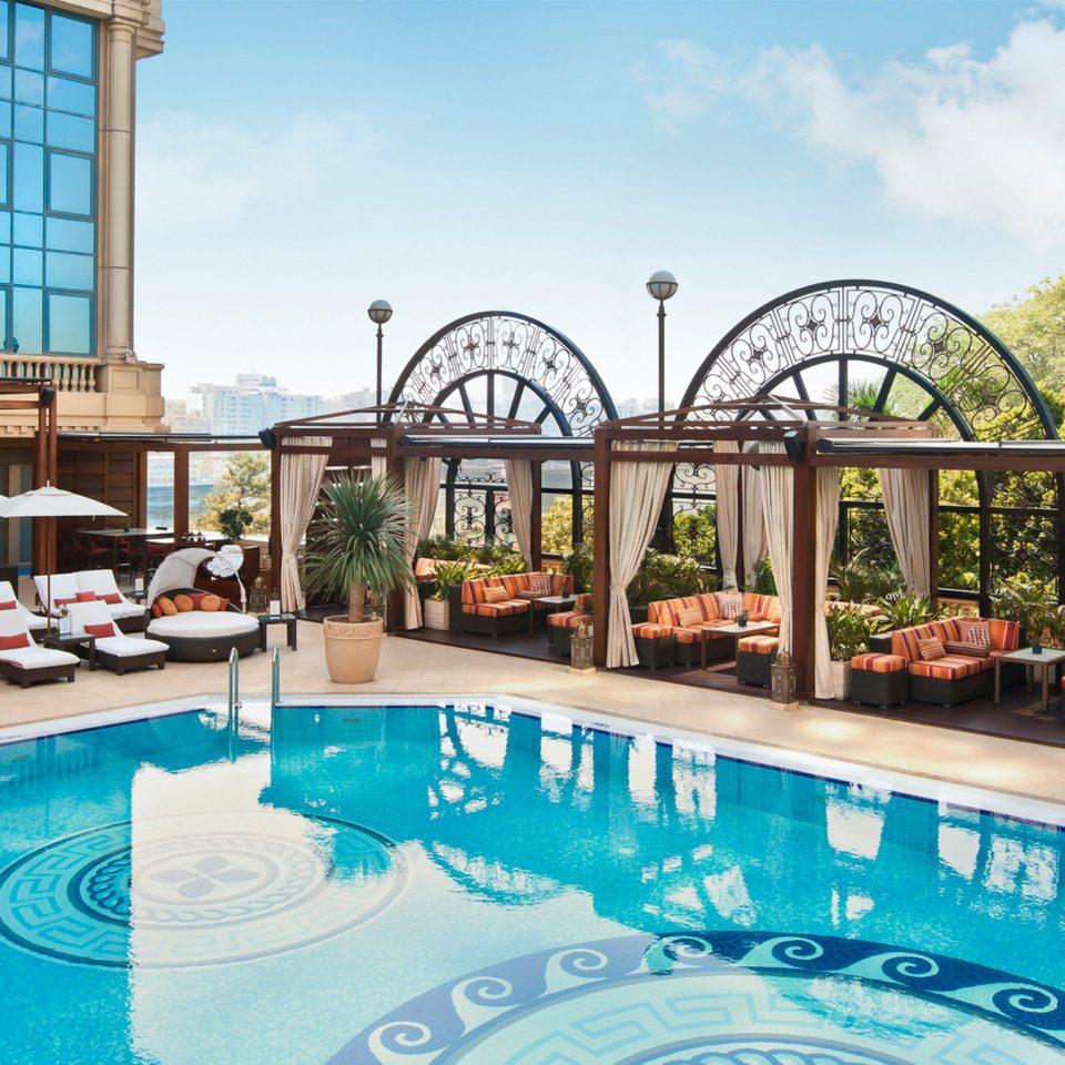 Luxury Modern Pool sky swimming pool leisure property Resort amusement park condominium backyard Villa