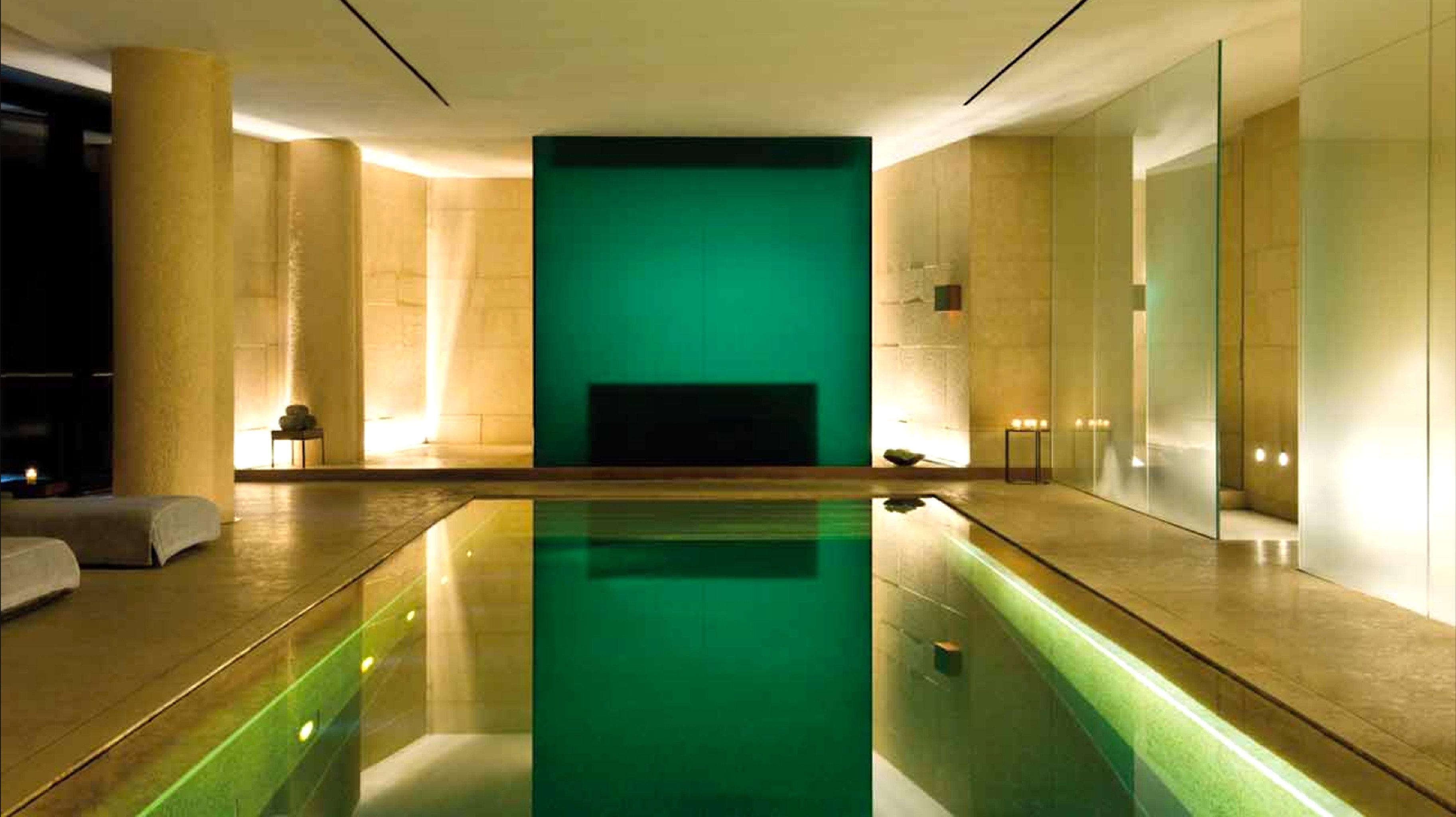 Luxury Modern Pool green swimming pool property lighting bathroom Suite bathtub