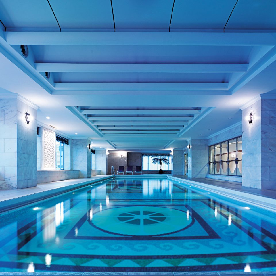 Luxury Modern Pool Wellness swimming pool blue leisure centre daylighting convention center baggage claim empty