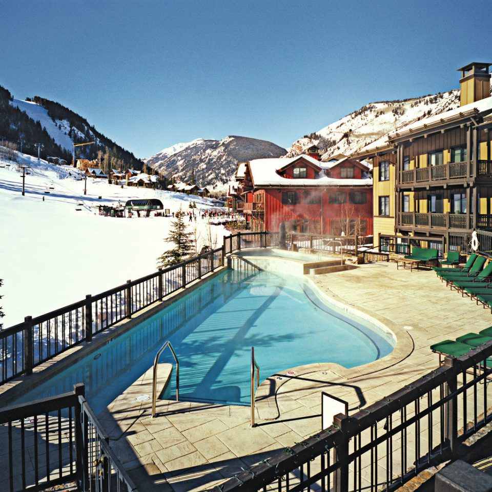 Luxury Mountains Play Pool Resort Scenic views Ski sky Town mountain rail snow