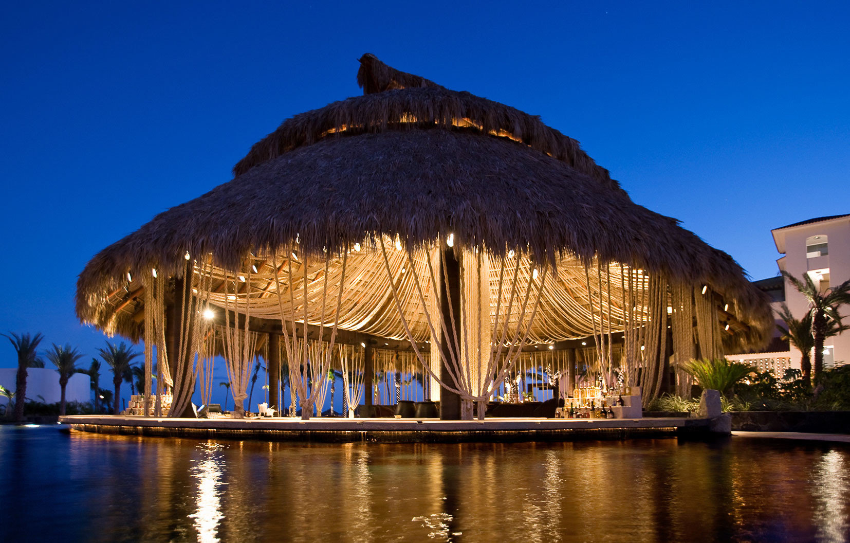 Luxury Nightlife Scenic views Tropical Waterfront sky water landmark night evening Resort dusk place of worship