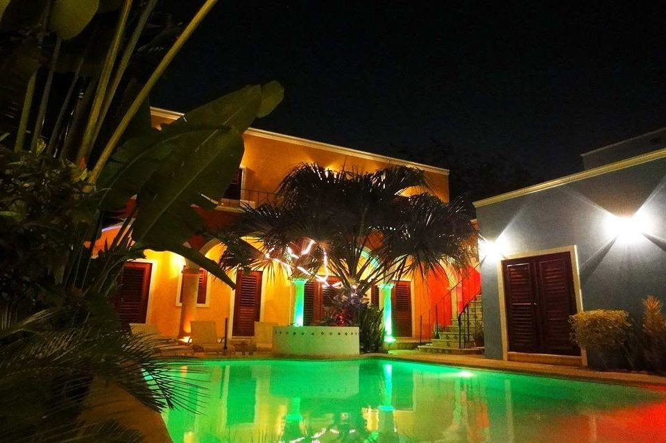 Luxury Pool Resort night light lighting landscape lighting