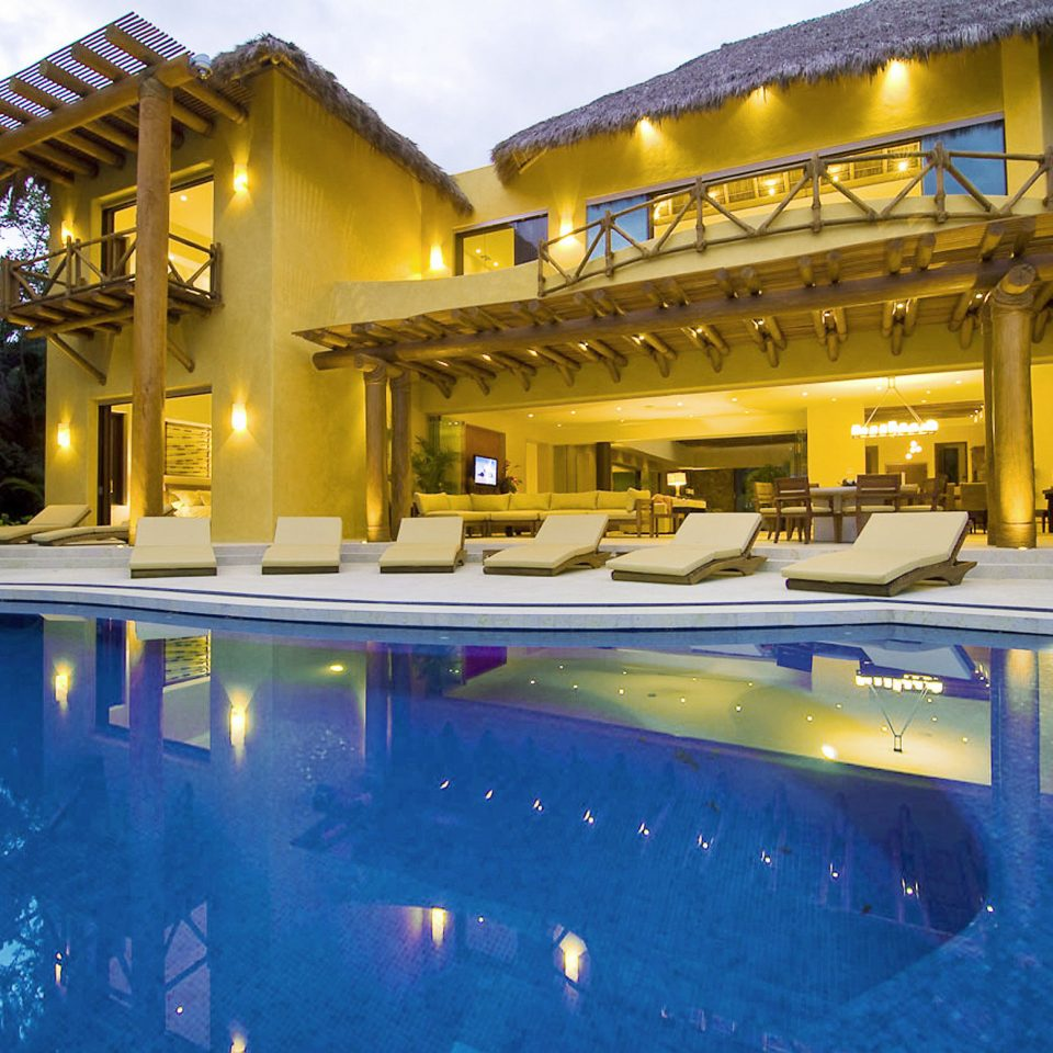 Luxury Pool swimming pool leisure property Resort building house yellow home Villa mansion resort town thermae palace