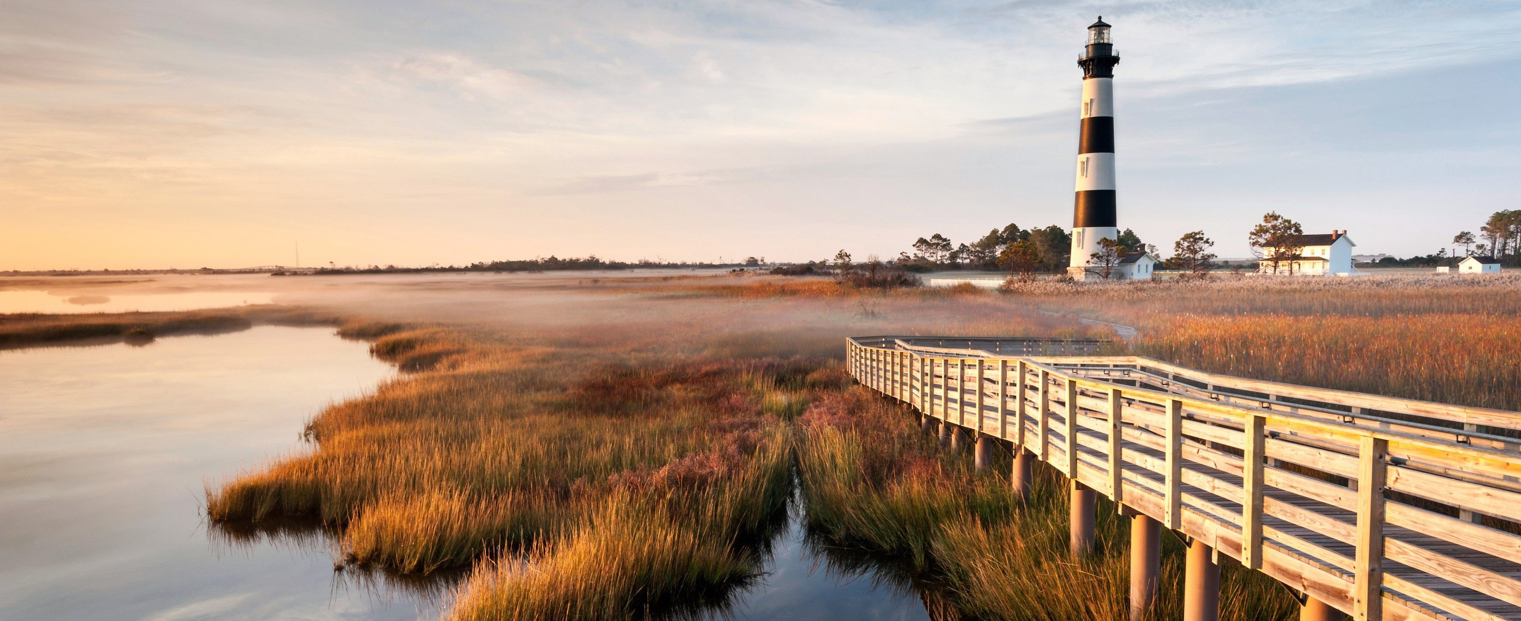 Beach sky outdoor water River reflection shore tower horizon Coast morning Sea waterway landscape evening marsh dusk wetland lighthouse dawn panorama overlooking