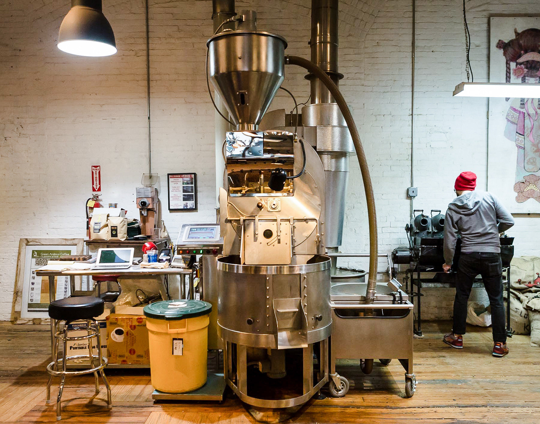 Brooklyn City Food + Drink NYC indoor machine cluttered cooking