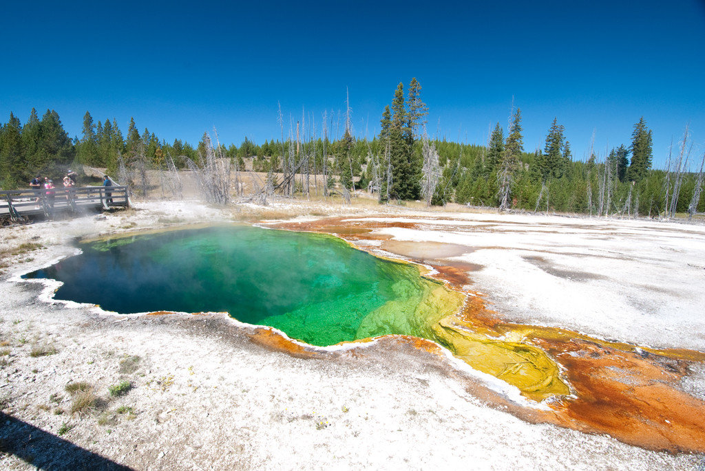 National Parks Outdoors + Adventure Trip Ideas sky outdoor tree ground body of water landform geographical feature wilderness water Nature River shore vacation mountain landscape Lake Sea geyser water feature national park pond