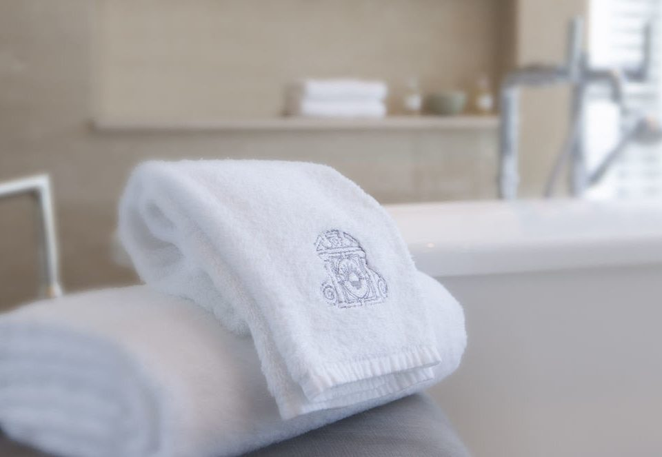 white product textile towel material