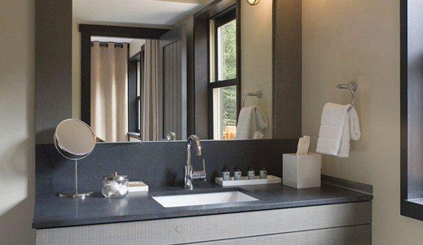 bathroom mirror sink bathroom accessory property bathroom cabinet towel vanity Modern clean