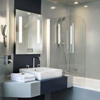 bathroom sink plumbing fixture shower toilet lighting bidet bathtub Modern tub clean