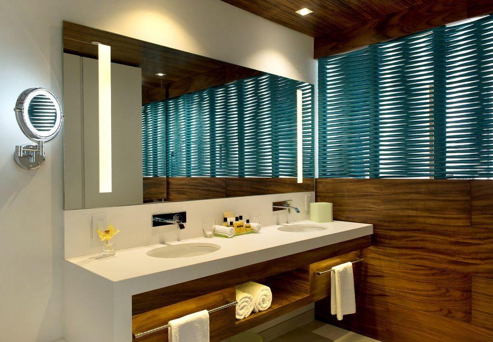 bathroom sink lighting home cabinetry flooring Modern